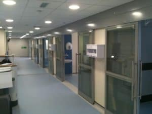 BANGOR HDU TRIMWALL SLIDING DOORS 009 office partitions liverpool wirral manchester