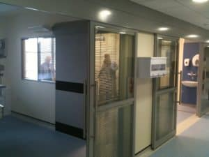 BANGOR HDU TRIMWALL SLIDING DOORS 012 office partitions liverpool wirral manchester