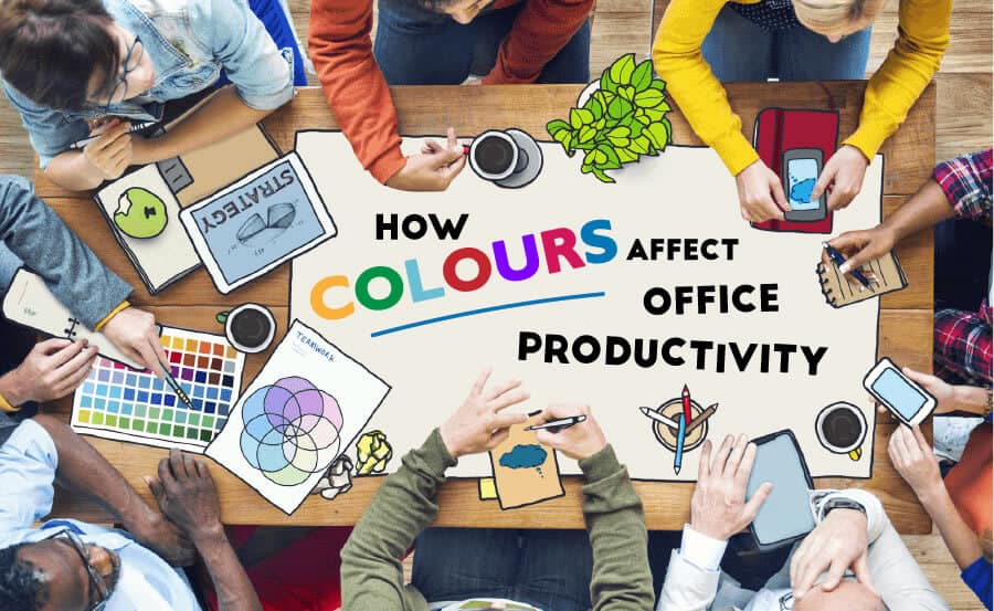Office design how colours affect productivity improve for Office design productivity research
