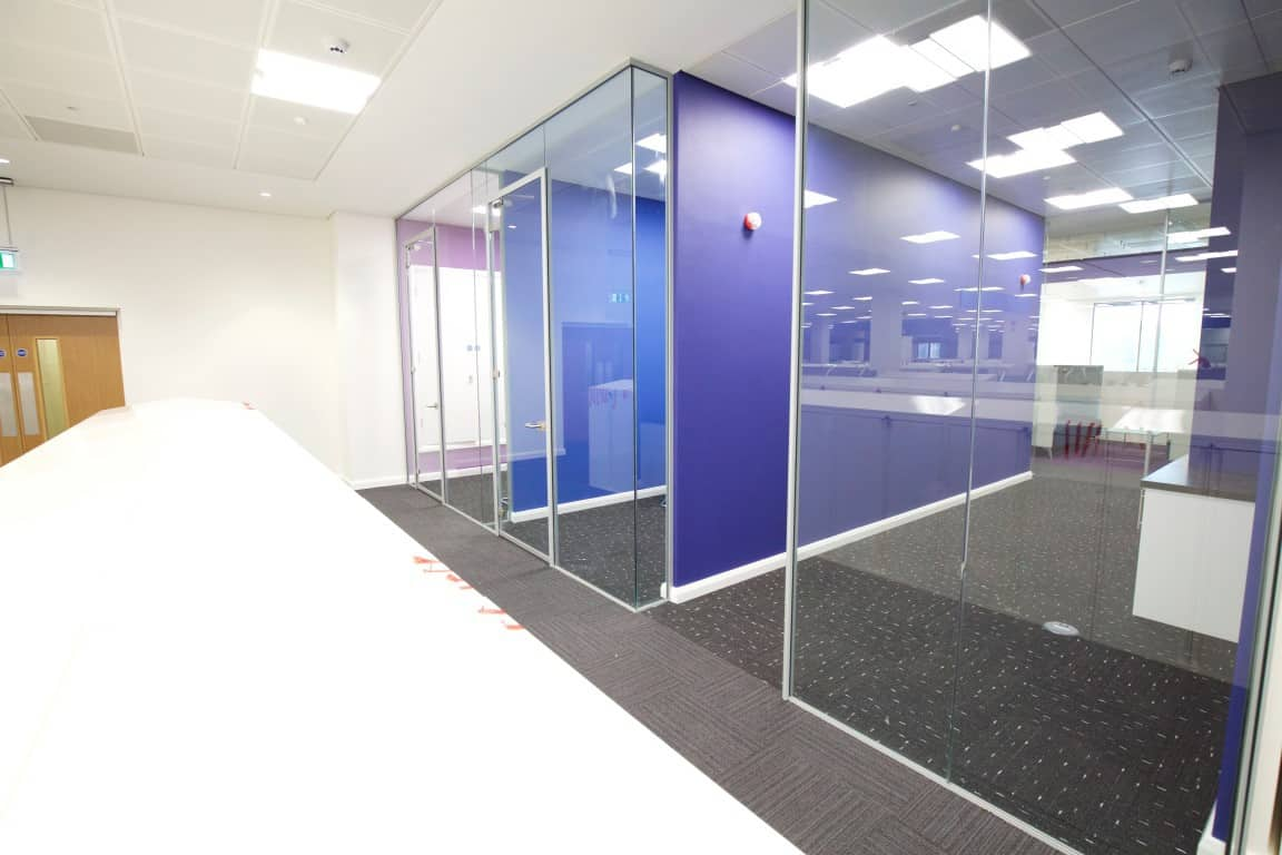 Cube7 059 1 office partitions liverpool wirral manchester