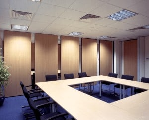 Wood Veneer office partitions liverpool wirral manchester