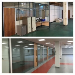 before and after 1 office partitions liverpool wirral manchester