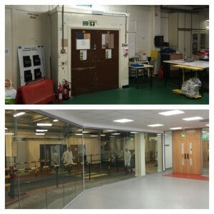 before and after 2 office partitions liverpool wirral manchester