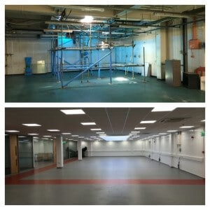 before and after 5 office partitions liverpool wirral manchester